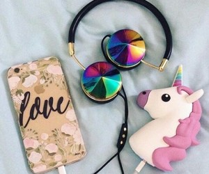 headphones, love, and iphone image