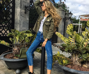 booties, anorak, and bluejeans image