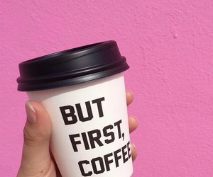 pink, coffee, and first image