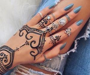 nails, henna, and tattoo image