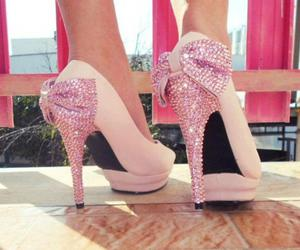 bling, shoes, and pink image