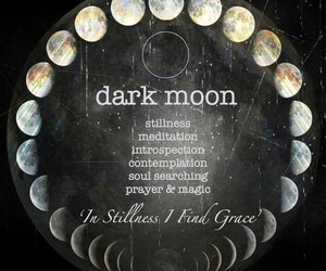 Darkness, moon, and moon phases image