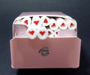 pink, cigarette, and heart image
