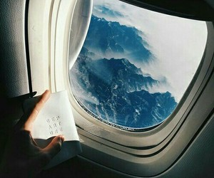 airplane, life, and mountain image