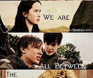 edmund pevensie, lucy pevensie, and narnia image
