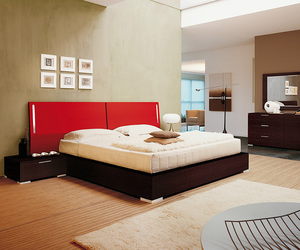 bed, bedroom set, and wooden bed image