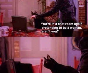 funny, cat, and sabrina the teenage witch image