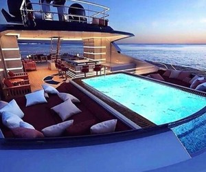 luxury, rich, and yacht image