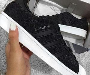 adidas, superstar, and black image