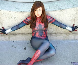 cosplay, Marvel, and spidergirl image