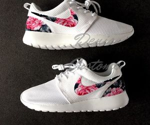 floral, nike, and sneakers image