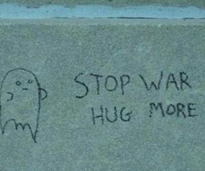 hug, war, and quotes image