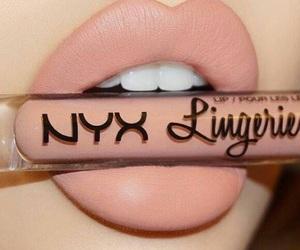 makeup, lips, and NYX image