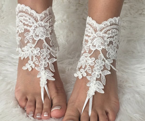 bridesmaid, lace shoes, and pearl sandals image