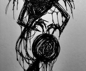 Darkness, mental illness, and drawing image