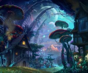 fantasy, mushroom, and house image