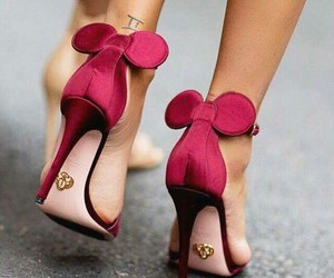 shoes, pink, and high heels image