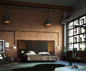 bedroom and industrial image