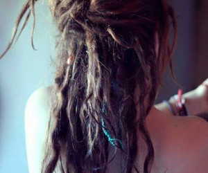 Chica, cabello, and rastas image