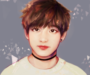 v, fanart, and bts image