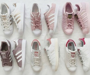 adidas, pink, and superstar image