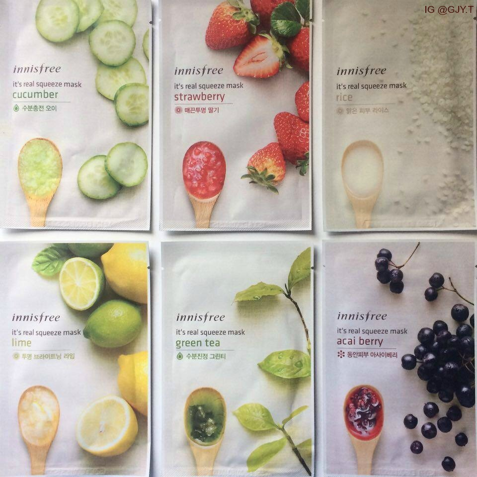 Innisfree Sheet Mask Ig Ytte0000 On We Heart It Real Squeeze Lime