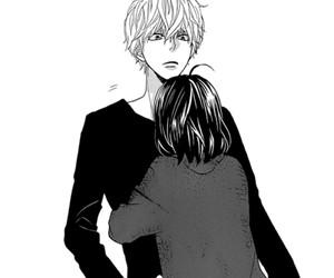 hug, manga, and cute image