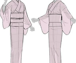 draw, japan, and kimono image