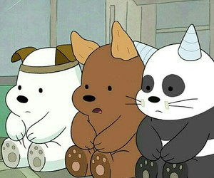 we bare bears, bear, and cartoon image