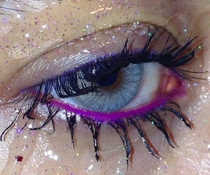 eyes, purple, and grunge image