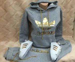 adidas, outfit, and gold image
