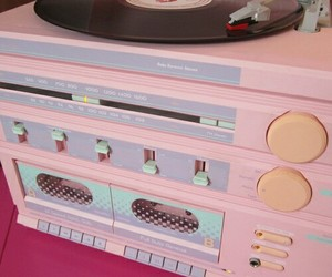 pink, pastel, and music image