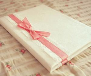 book, pink, and ribbon image