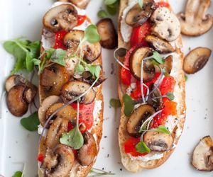 food, fit, and mushroom image