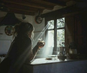 coffee, light, and morning image