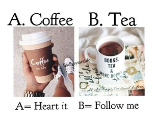 tea, coffee, and coffe image