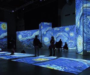 art, van gogh, and blue image
