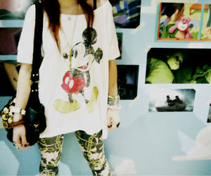 fashion, mickey mouse, and studs image