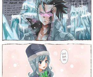 gruvia, fairy tail, and anime image