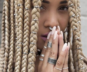 braid, hair, and nails image