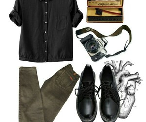 Polyvore, blacktop, and blackshoes image