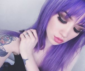 alternative, makeup, and purple image