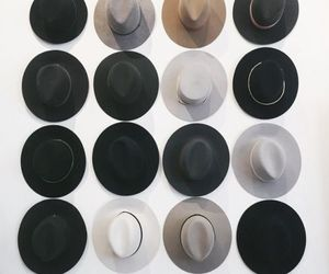 hat, style, and black image
