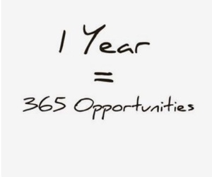 quotes, opportunity, and happy new year image