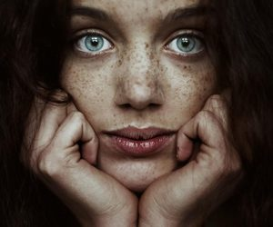 eyes, beauty, and freckles image