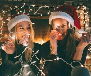christmas, friends, and light image