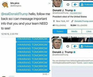 kpop, bless, and donald trump image