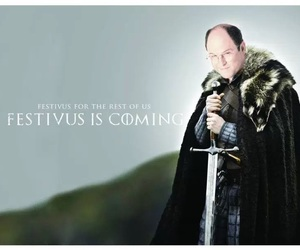 george costanza, seinfeld, and festivus image