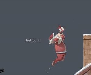 Just Do It, navidad, and papa noel image