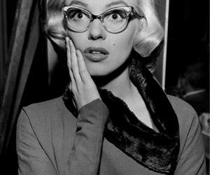 Marilyn Monroe, glasses, and vintage image